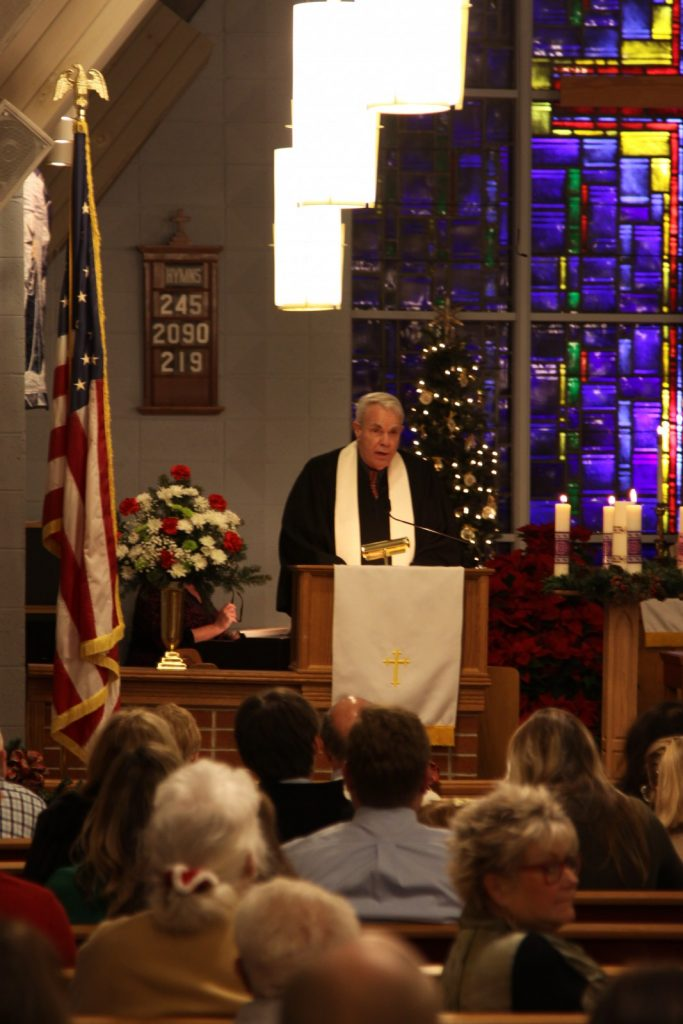 Pastor Bruce welcomes